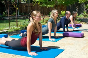 Kat's Outdoor Yoga Studio in Napa Valley